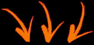 3 frecce giu arancioni